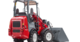 Weidemann Hoftrac 1160 with light materials bucket studio view 1