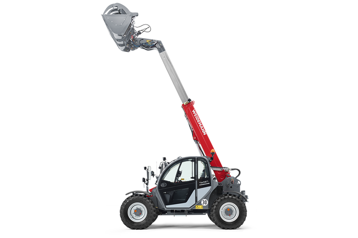 Weidemann telehandler T6027 with shear grab studio visibility 4