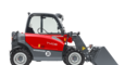 Weidemann telehandler T4108 with light materials bucket studio view 4