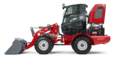 Weidemann wheel loader 3080 with light goods bucket studio view 3