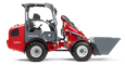 Weidemann Hoftrac 1380 FSD with light materials bucket studio view