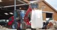 Weidemann telescopic wheel loader 5080T with pallet fork application 2