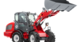 Weidemann wheel loader 3080 with light goods bucket studio view 1