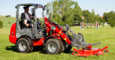 Weidemann Hoftrac 1160 application with rotary mower
