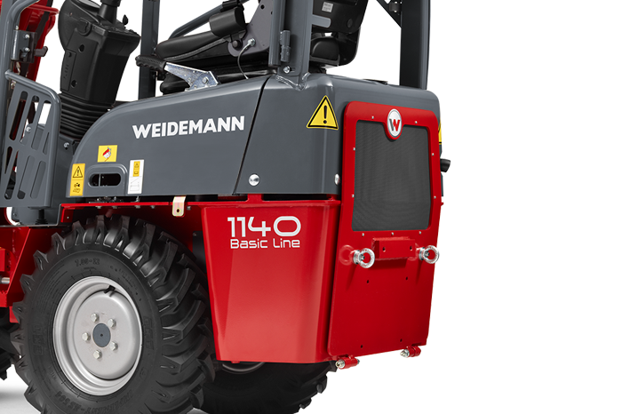 Weidemann Hoftrac 1140 Basic Line, studio view 1