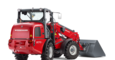 Weidemann telescopic wheel loader 2070 CX LPT with light materials bucket studio view 1