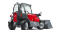 Weidemann telehandler T4108 with light materials bucket studio view 1