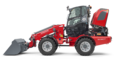Weidemann telescopic wheel loader 5080T with light materials bucket studio view 5