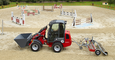 Weidemann Hoftrac 1280 application with riding arena and path planer