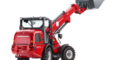 Weidemann telescopic wheel loader 2070 CX LPT with light materials bucket studio view 2
