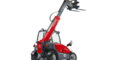 Weidemann telehandler T4108 with light materials bucket studio view 2