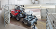 Weidemann telehandler T4108 with road sweeper application