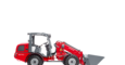 Weidemann telescopic wheel loader 2070 CX LPT with light materials bucket studio view 3