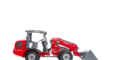 Weidemann telescopic wheel loader 2070 CX LPT with light materials bucket studio view 4