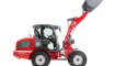 Weidemann wheel loader 3080 with light goods bucket studio view 2