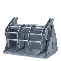 Power grab bucket with removable side parts
