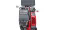 Weidemann telehandler T4108 with light materials bucket studio view 3