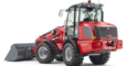 Weidemann telescopic wheel loader 5080T with light materials bucket studio view 6