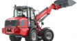 Weidemann telescopic wheel loader 5080T with light materials bucket studio view 2