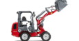 Weidemann Hoftrac® 1260 with light materials bucket studio view 3