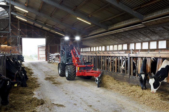 Weidemann 1160 eHoftrac application in the cow barn
