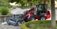 Weidemann Hoftrac 1280 application with road sweeper