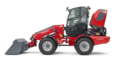 Weidemann telescopic wheel loader 4080T with light materials bucket studio view 5