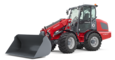 Weidemann telescopic wheel loader 4080T with light materials bucket studio view 6