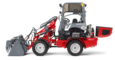 Weidemann Hoftrac® 1260 with light materials bucket studio view 4