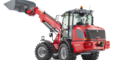 Weidemann telescopic wheel loader 4080T with light materials bucket studio view 2