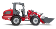 Weidemann wheel loader 3080LP with lightweight bucket, studio view 1