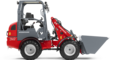 Weidemann 1160 eHoftrac with light materials bucket studio view 2