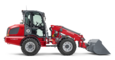 Weidemann telescopic wheel loader 4080T with light materials bucket studio view 4
